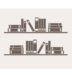 Bookshelf with books vector image