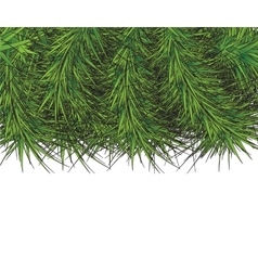 Border of New Year branch of pine vector image
