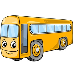 Bus character cartoon vector