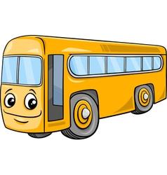 bus character cartoon vector image