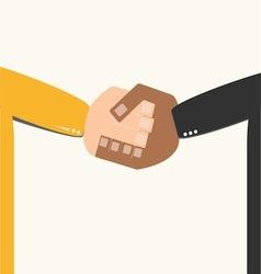 Businessman hand shaking vector