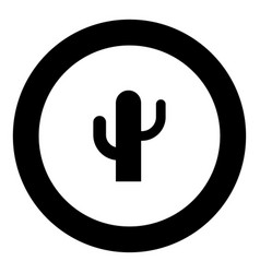 Cactus icon black color in circle vector