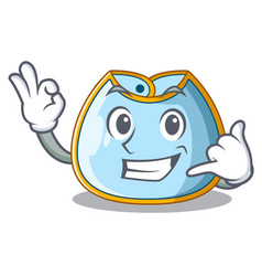 Call me baby bib isolated on the mascot vector
