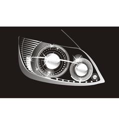 Car headlight vector