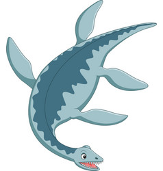 cartoon plesiosaurus vector image