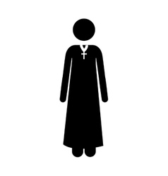 catholic priest icon image vector image