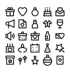 Celebration and party icons 1 vector