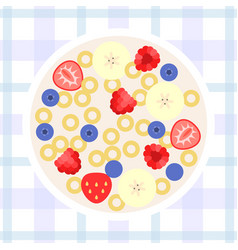 cereal flat design vector image