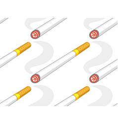 cigarette icon pattern vector image