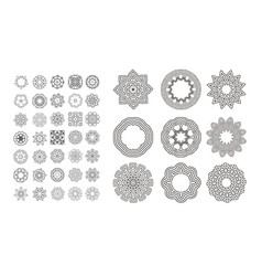 circular monochrome pattern vector image