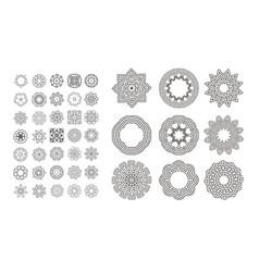 circular monochrome pattern vector image