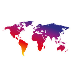 Colorful world map on a white background vector