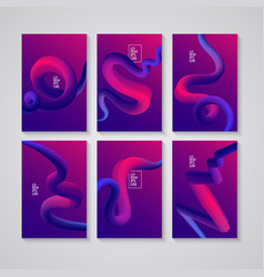Cover design liquid colorful shapes backgrounds vector