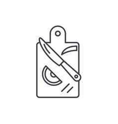 cutting products line icon concept cutting vector image