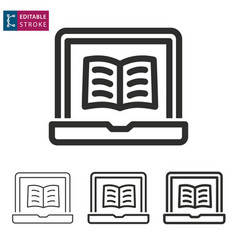 e-learning line icon editable stroke vector image