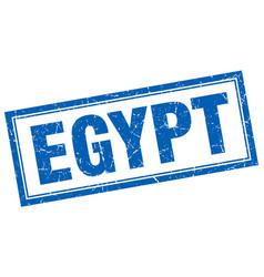 egypt blue square grunge stamp on white vector image