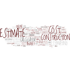 Estimating word cloud concept vector