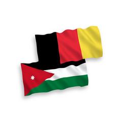 Flags belgium and hashemite kingdom jordan vector