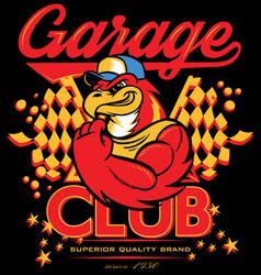 Garage club vector