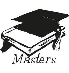 graduation cap and book icon vector image