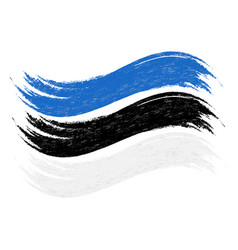 Grunge brush stroke with national flag of estonia vector