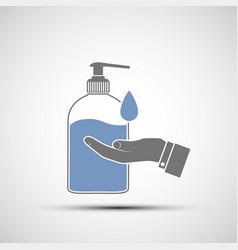 Hand sanitizer gel or soap in a bottle vector