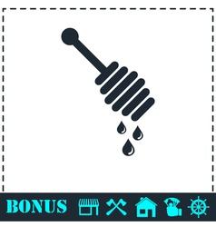 Honey icon flat vector image