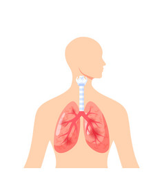 Irritated lungs icon in flat style vector