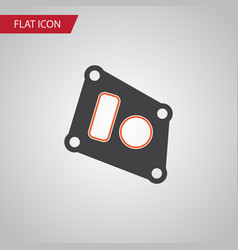 Isolated packing flat icon gasket element vector