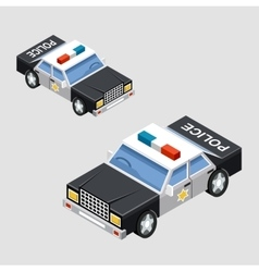Isometric police car vector