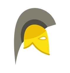 Knight helmet icon flat style vector image