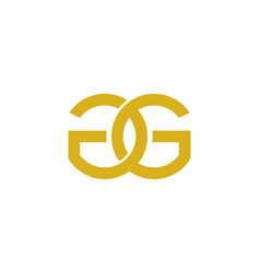 Link letter g logo icon design vector