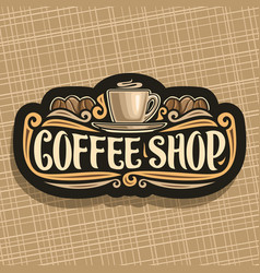logo for coffee shop vector image