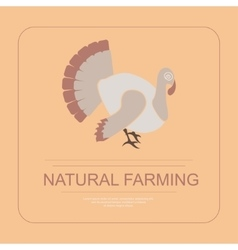 Logotype of natural farming vector