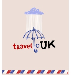 London style greeting card vector image