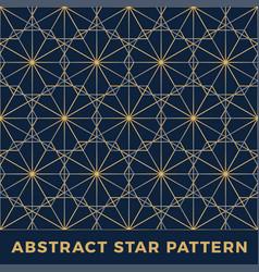 Luxury gold stars seamless pattern background vector