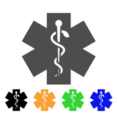 medical life star icon vector image