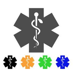 Medical life star icon vector
