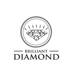 modern diamond logo vector image