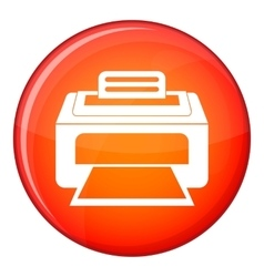 Modern laser printer icon flat style vector