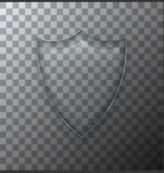 modern transparent shield glass plate vector image