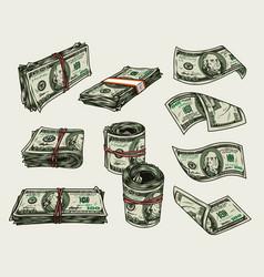 Money vintage colorful composition vector