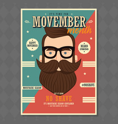 Movember poster design prostate cancer awareness vector