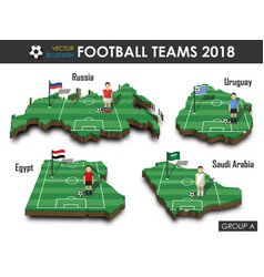 national soccer teams 2018 group a vector image