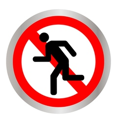 No Run Sign vector