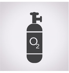 oxygen cylinder icon vector image