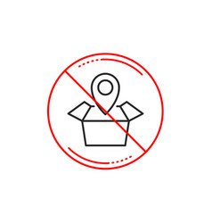 Package tracking line icon delivery monitoring vector