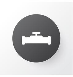 pipeline with crane icon symbol premium quality vector image