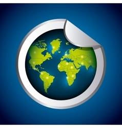 Planet icon Sticker design graphic vector