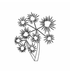 Prickly palm icon outline style vector